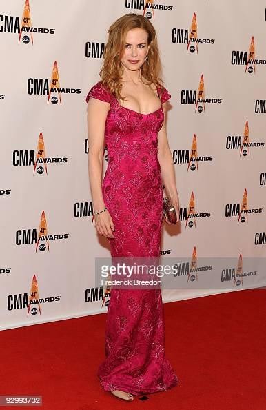 Actress Nicole Kidman attends the 43rd Annual CMA Awards at the Sommet Center on November 11 2009 in Nashville Tennessee