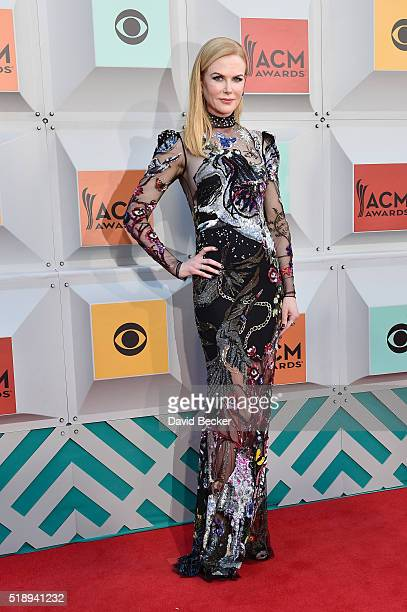 Actress Nicole Kidman attends the 51st Academy of Country Music Awards at MGM Grand Garden Arena on April 3 2016 in Las Vegas Nevada