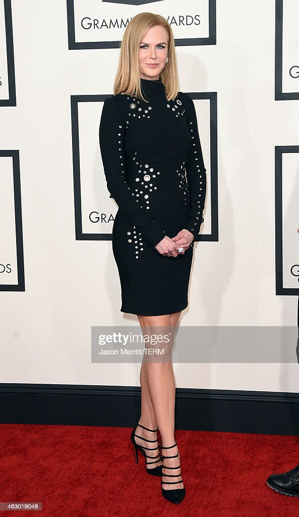 Actress <a gi-track='captionPersonalityLinkClicked' href=/galleries/search?phrase=Nicole+Kidman&family=editorial&specificpeople=156404 ng-click='$event.stopPropagation()'>Nicole Kidman</a> attends The 57th Annual GRAMMY Awards at the STAPLES Center on February 8, 2015 in Los Angeles, California.