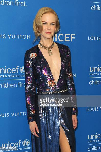 Actress Nicole Kidman attends the 6th Biennial UNICEF Ball at the Beverly Wilshire Four Seasons Hotel on January 12 2016 in Beverly Hills California