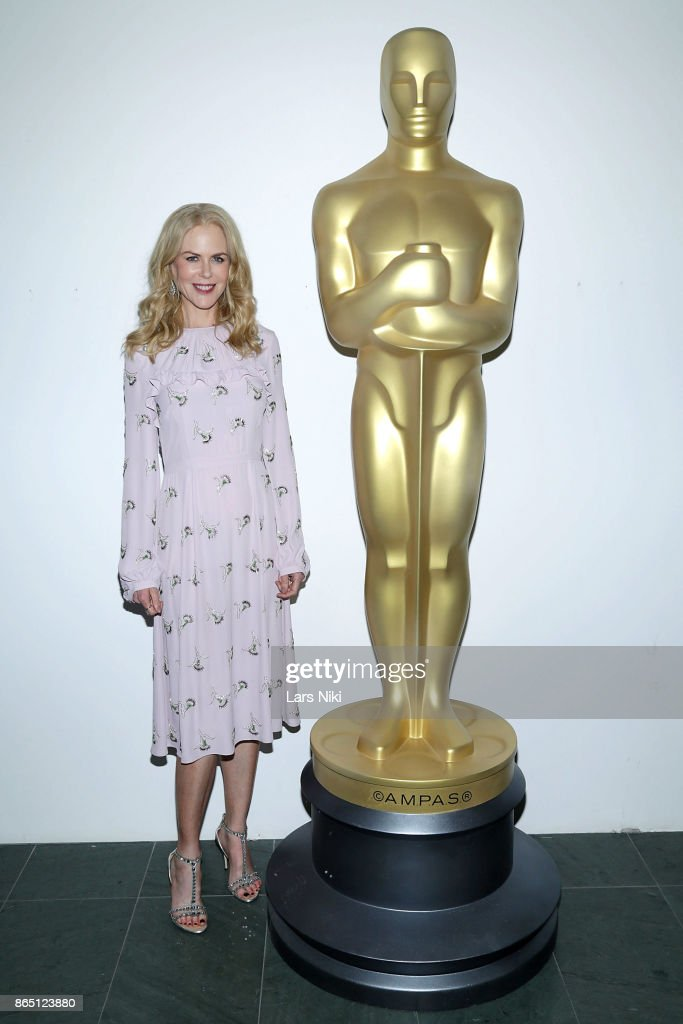 Actress Nicole Kidman attends The Academy of Motion Picture Arts & Sciences official academy screening of 'The Killing of a Sacred Deer' at the MOMA Celeste Bartos Theater on October 21, 2017 in New York City.