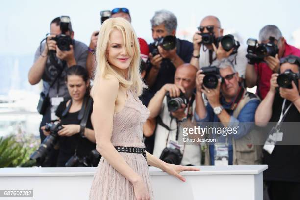 Actress Nicole Kidman attends 'The Beguiled' photocall during the 70th annual Cannes Film Festival at Palais des Festivals on May 24 2017 in Cannes...