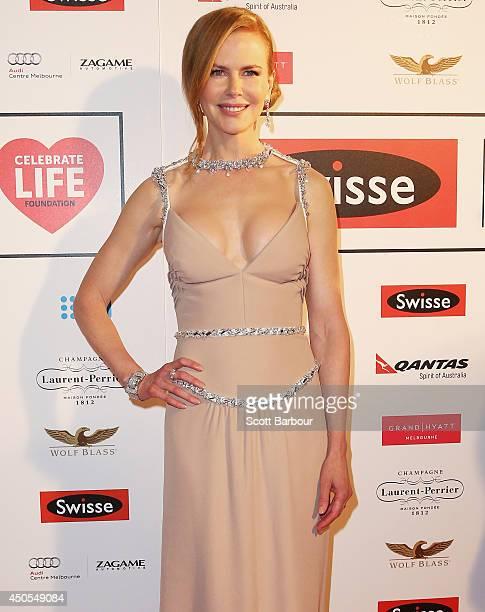 Actress Nicole Kidman attends the Celebrate Life Ball at Grand Hyatt Melbourne on June 13 2014 in Melbourne Australia