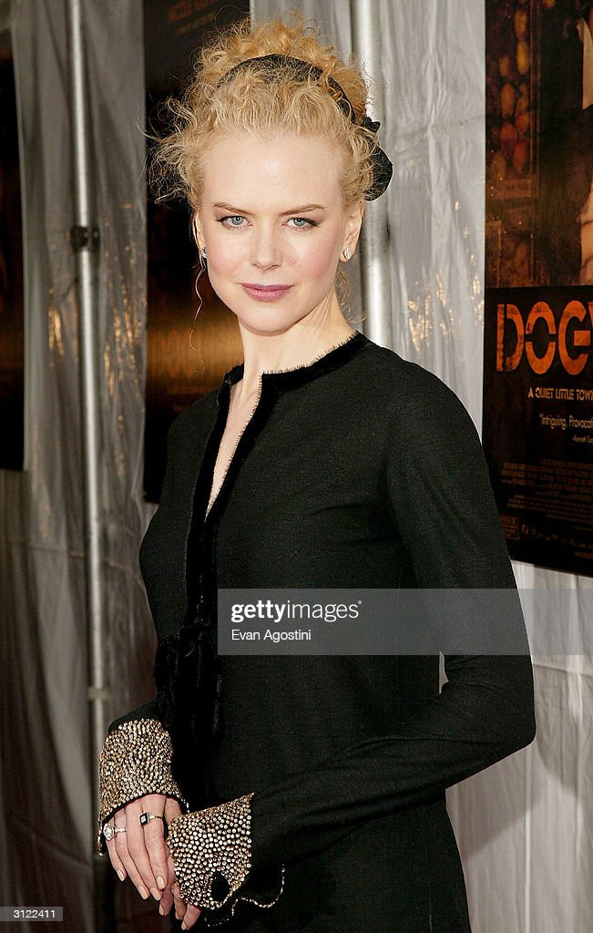 Actress Nicole Kidman attends the 'Dogville' New York Premiere on March 22, 2004 at Clearview Chelsea West Cinemas, in New York City.