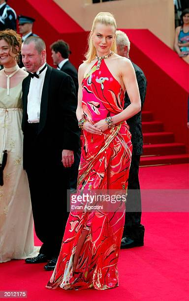 Actress Nicole Kidman attends the 'Dogville' premiere at the Palais Des Festival during 56th International Cannes Film Festival 2003 on May 19 2003...