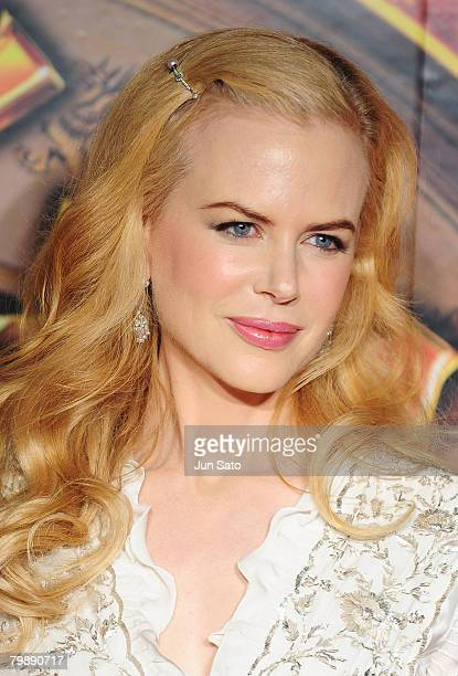 Actress Nicole Kidman attends 'The Golden Compass' Japan Premiere at Yebisu Garden Hall on February 21 2008 in Tokyo Japan The film is open on March...