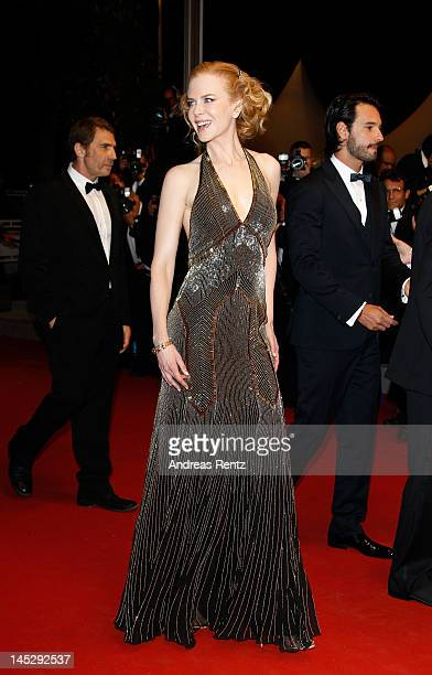 Actress Nicole Kidman attends the 'Hemingway Gellhorn' Premiere during the 65th Annual Cannes Film Festival at Palais des Festivals on May 25 2012 in...