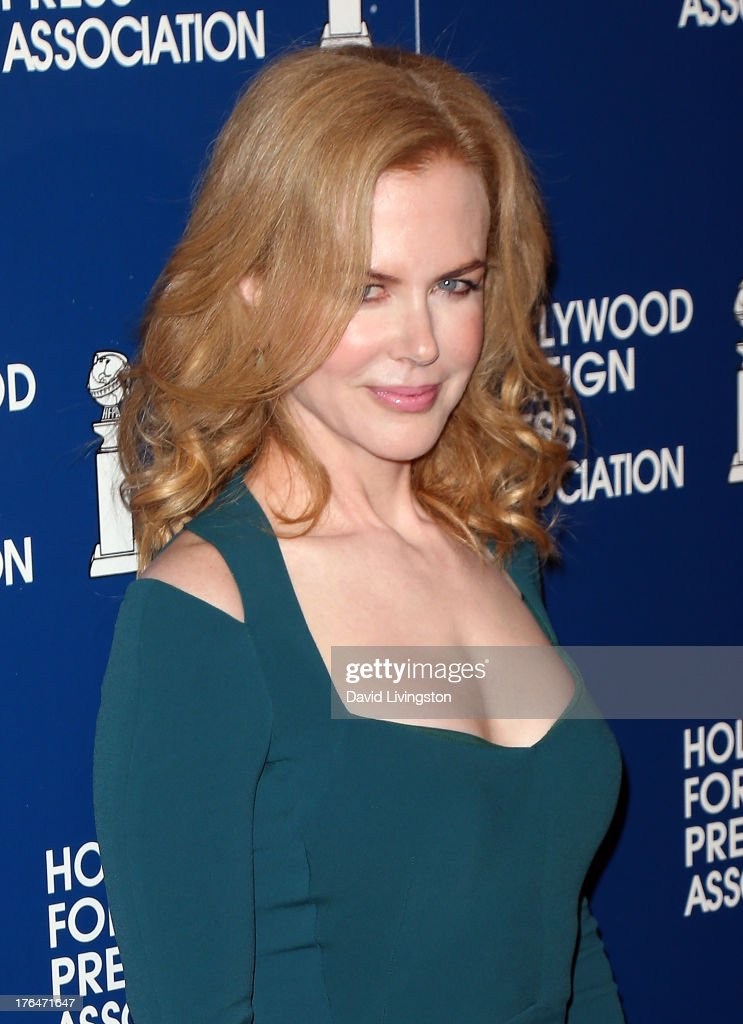 Actress <a gi-track='captionPersonalityLinkClicked' href=/galleries/search?phrase=Nicole+Kidman&family=editorial&specificpeople=156404 ng-click='$event.stopPropagation()'>Nicole Kidman</a> attends the Hollywood Foreign Press Association's 2013 Installation Luncheon at The Beverly Hilton Hotel on August 13, 2013 in Beverly Hills, California.
