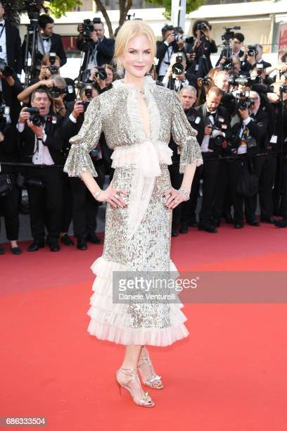 Actress Nicole Kidman attends the 'How To Talk To Girls At Parties' screening during the 70th annual Cannes Film Festival at Palais des Festivals on...
