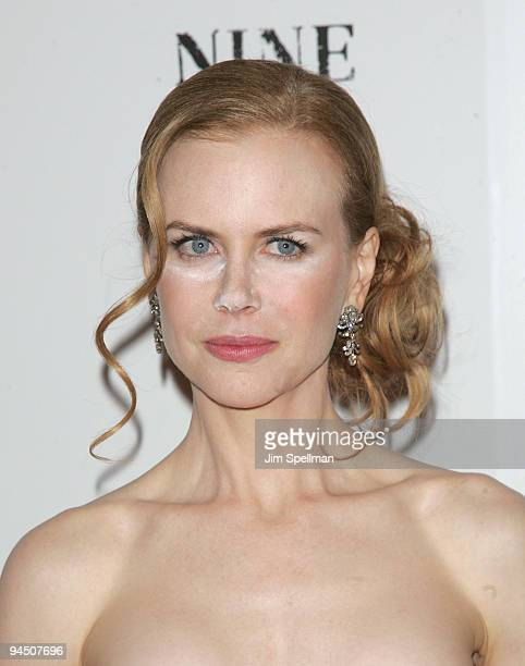 Actress Nicole Kidman attends the New York premiere of 'Nine' at the Ziegfeld Theatre on December 15 2009 in New York City