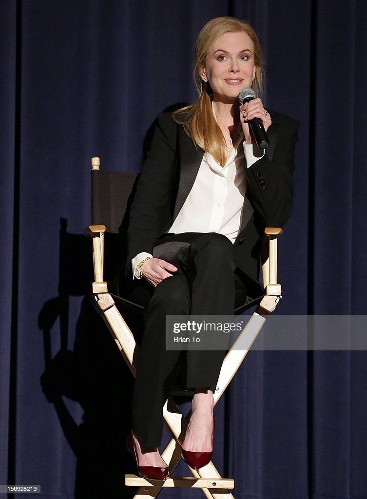 Actress <a gi-track='captionPersonalityLinkClicked' href=/galleries/search?phrase=Nicole+Kidman&family=editorial&specificpeople=156404 ng-click='$event.stopPropagation()'>Nicole Kidman</a> attends 'The Paperboy' Q&A with <a gi-track='captionPersonalityLinkClicked' href=/galleries/search?phrase=Nicole+Kidman&family=editorial&specificpeople=156404 ng-click='$event.stopPropagation()'>Nicole Kidman</a> at Harmony Gold Theatre on November 24, 2012 in Los Angeles, California.