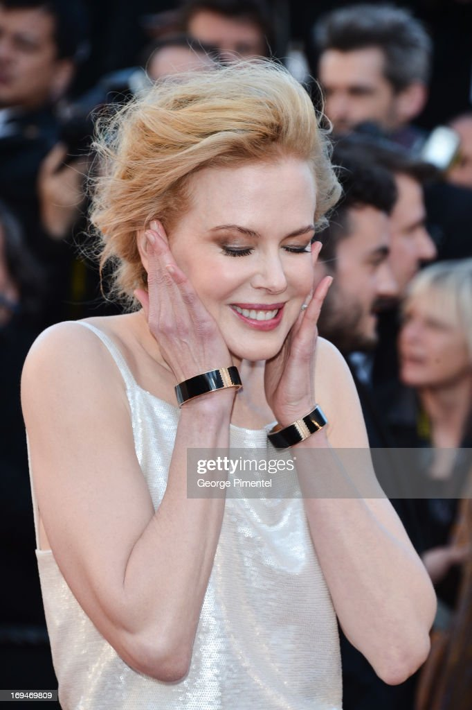 Actress <a gi-track='captionPersonalityLinkClicked' href=/galleries/search?phrase=Nicole+Kidman&family=editorial&specificpeople=156404 ng-click='$event.stopPropagation()'>Nicole Kidman</a> attends the Premiere of 'La Venus A La Fourrure' at The 66th Annual Cannes Film Festival on May 25, 2013 in Cannes, France.