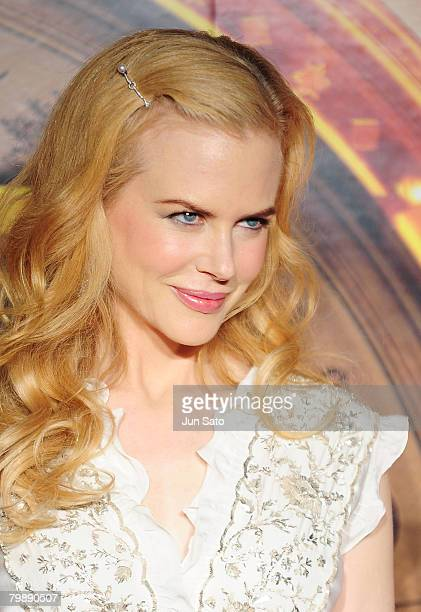 Actress Nicole Kidman attends the premiere of 'The Golden Compass' at Yebisu Garden Hall February 21 2008 in Tokyo Japan