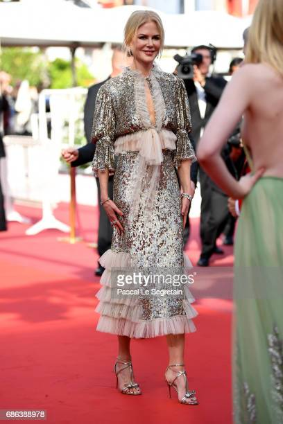 Actress Nicole Kidman attends the 'The Meyerowitz Stories' screening during the 70th annual Cannes Film Festival at Palais des Festivals on May 21...