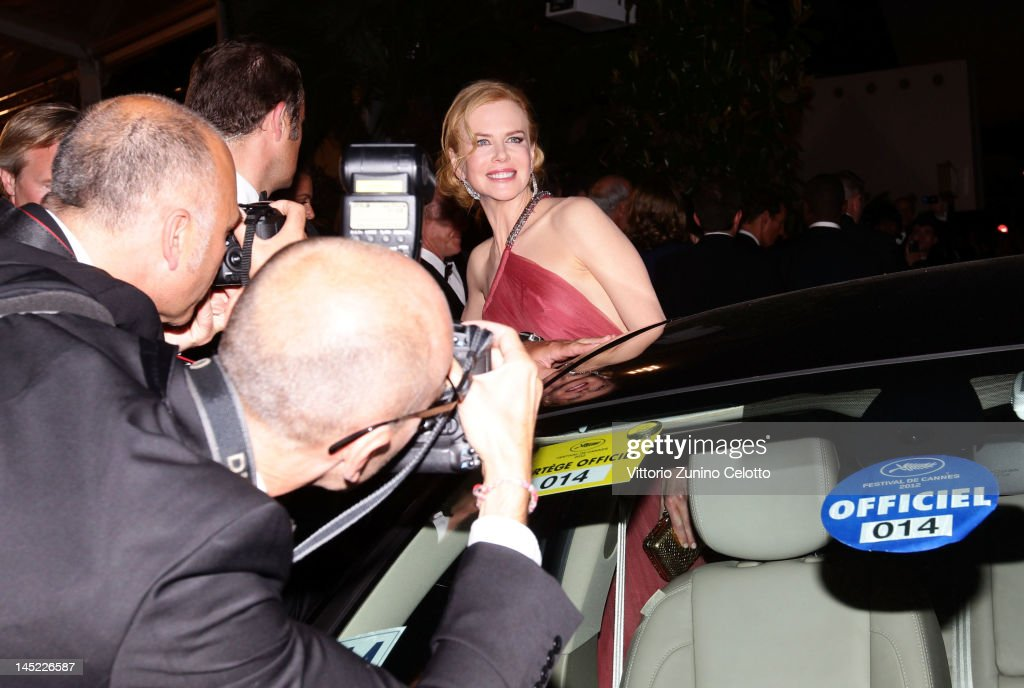 Actress Nicole Kidman departs the 'The Paperboy' premiere during the 65th Annual Cannes Film Festival at Palais des Festivals on May 24, 2012 in Cannes, France.