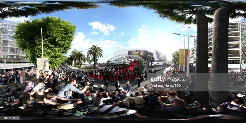 Actress <a gi-track='captionPersonalityLinkClicked' href=/galleries/search?phrase=Nicole+Kidman&family=editorial&specificpeople=156404 ng-click='$event.stopPropagation()'>Nicole Kidman</a> greets fans as she attends the Opening Ceremony and the 'Grace of Monaco' premiere during the 67th Annual Cannes Film Festival on May 14, 2014 in Cannes, France.