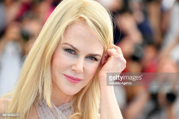 Actress Nicole Kidman poses during a photocall for the film 'The Beguiled' in competition at the 70th annual Cannes Film Festival in Cannes France on...