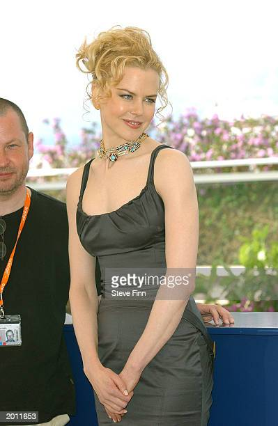 Actress Nicole Kidman poses during the 'Dogville' photocall at the 'Palais Des Festival' during 56th International Cannes Film Festival 2003 on May...