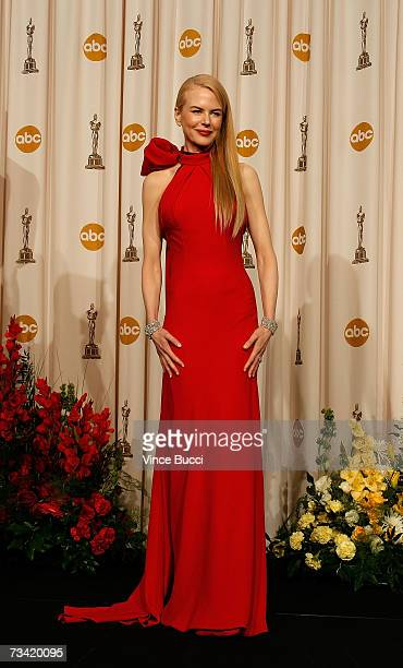 TELECAST*** Actress Nicole Kidman poses in the press room during the 79th Annual Academy Awards at the Kodak Theatre on February 25 2007 in Hollywood...