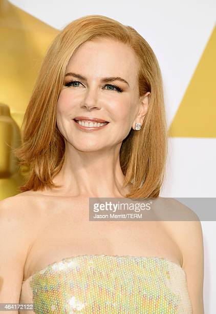 Actress Nicole Kidman poses in the press room during the 87th Annual Academy Awards at Loews Hollywood Hotel on February 22 2015 in Hollywood...