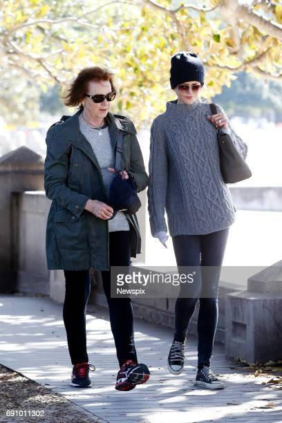 SYDNEY NSW Actress Nicole Kidman takes a stroll with her mother Janelle at Balmoral Beach in Sydney New South Wales