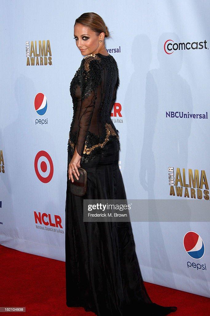 Actress Nicole Richie arrives at the 2012 NCLR ALMA Awards at Pasadena Civic Auditorium on September 16, 2012 in Pasadena, California.
