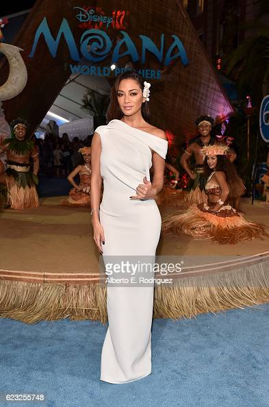 Actress Nicole Scherzinger attends The World Premiere of Disney's 'MOANA' at the El Capitan Theatre on Monday November 14 2016 in Hollywood CA