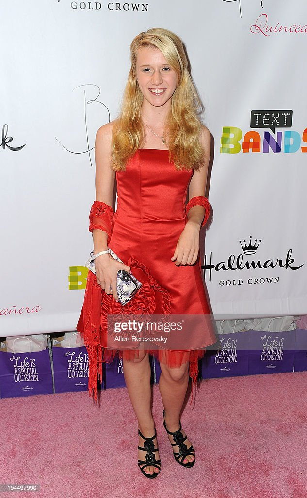 Actress Nicole Tompkins attends Bella Thorne's Quinceanera in honor of her 15th Birthday presented by Hallmark Gold Crown and Text Bands on October 20, 2012 in Hollywood, California.