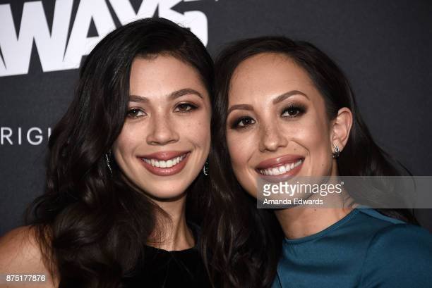 Actress Nicole Wolf and dancer Cheryl Burke arrive at the premiere of Hulu's 'Marvel's Runaways' at the Regency Bruin Theatre on November 16 2017 in...