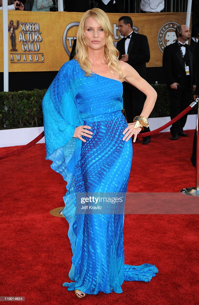 Actress Nicollette Sheridan arrives at the 15th Annual Screen Actors Guild Awards held at the Shrine Auditorium on January 25 2009 in Los Angeles...