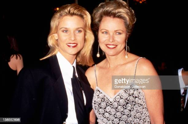 Actress Nicollette Sheridan attends an event with musician Michelle Phillips in 1993 in Los Angeles California