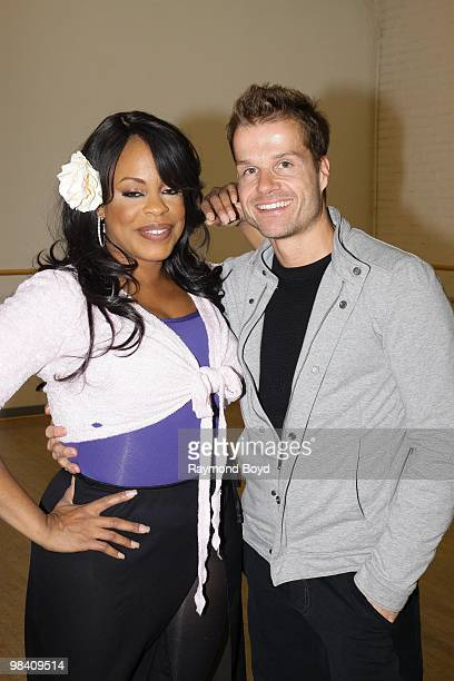 Actress Niecy Nash and Choreographer 'Louie' Van Amstel poses for photos during their rehearsal for ABC's 'Dancing With The Stars' in Chicago...