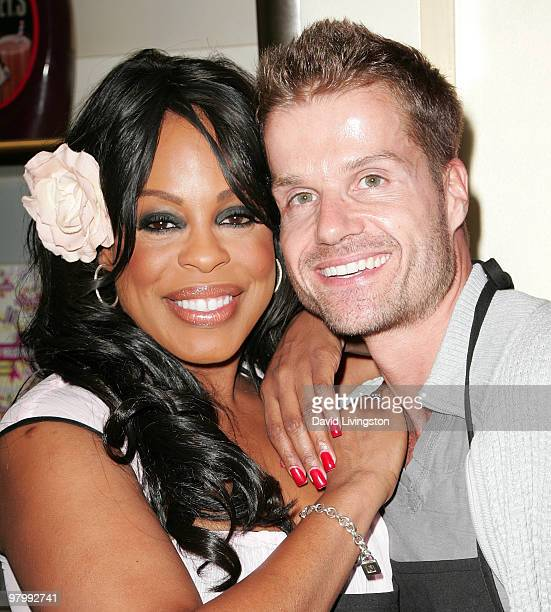 Actress Niecy Nash and 'Dancing with the Stars' partner Louis van Amstel attend the launch of Nash's milkshake at Millions of Milkshakes on March 23...