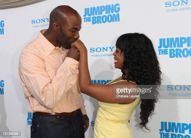 Actress Niecy Nash and fiance Jay Tucker arrive at the Los Angeles premiere of 'Jumping The Broom' at ArcLight Cinemas Cinerama Dome on May 4 2011 in...