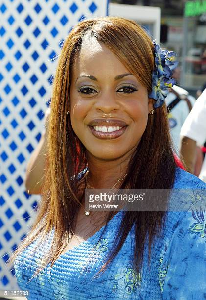 Actress Niecy Nash arrives for the premiere of Warner Bros 'YuGiOh The Movie' at the Chinese Theater August 7 2004 in Los Angeles California