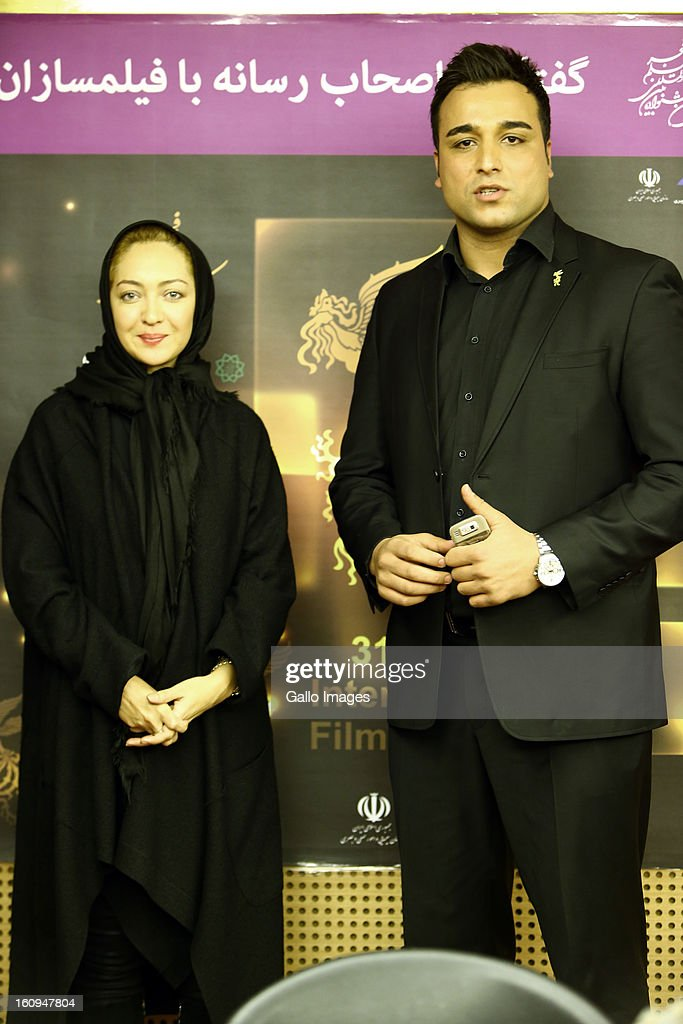 Actress Niki Karimi and Olympic silver Medalist Ehsan Hadadi at Day 8 of the 31th International Fajr Film Festival on February 7, 2013 in Tehran, Iran. Organized by the Ministry of Culture and Islamic Guidance, the Film Festival is the most important film event in the country.