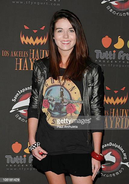 Actress Nikita Ramsey arrives at the 2nd annual Haunted Hayride premiere night at Griffith Park on October 10 2010 in Los Angeles California