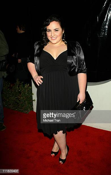 Actress Nikki Blonsky arrives at the 'Style Your Slim' Party hosted by Rachel Hunter held at Boulevard 3 on January 8 2008 in Hollywood California