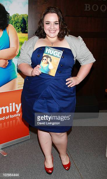 Actress Nikki Blonsky attends a signing for 'Huge' at Barnes Noble Booksellers at The Grove on July 17 2010 in Los Angeles California