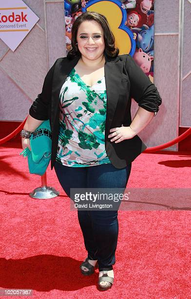 Actress Nikki Blonsky attends the Los Angeles premiere of 'Toy Story 3' at the El Capitan Theatre on June 13 2010 in Hollywood California