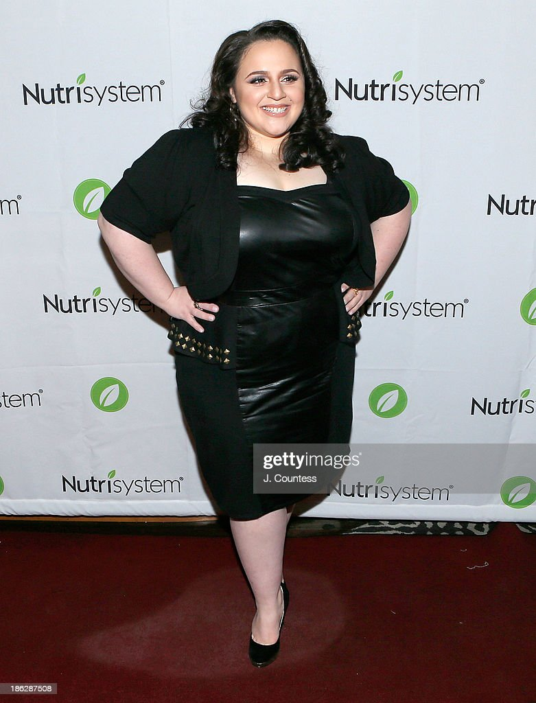 Actress <a gi-track='captionPersonalityLinkClicked' href=/galleries/search?phrase=Nikki+Blonsky&family=editorial&specificpeople=4197983 ng-click='$event.stopPropagation()'>Nikki Blonsky</a> poses for a photo at the 'Melissa Explains It All: Tales from My Abnormally Normal Life' book launch party at Monkey Bar on October 29, 2013 in New York City.