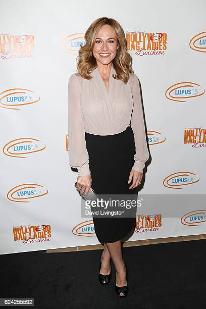 Actress Nikki DeLoach arrives at the 14th Annual Lupus LA Hollywood Bag Ladies Luncheon at The Beverly Hilton Hotel on November 18 2016 in Beverly...
