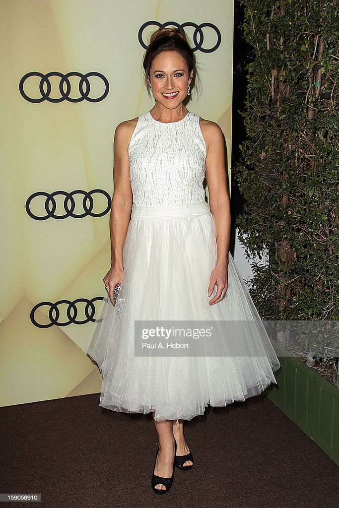 Actress Nikki Deloach arrives at the Audi Golden Globe 2013 Kick Off Party at Cecconi's Restaurant on January 6, 2013 in Los Angeles, California.