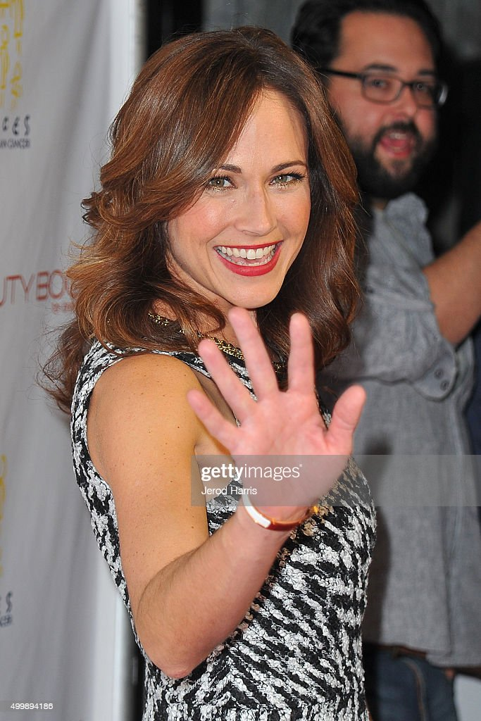 Actress Nikki DeLoach arrives at 'The Beauty Book For Brain Cancer' edition 2 launch party at Le Jardin on December 3, 2015 in Hollywood, California.