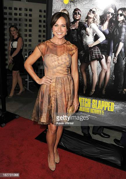 Actress Nikki Deloach arrives at the premiere of Universal Pictures And Gold Circle Films' 'Pitch Perfect' at ArcLight Cinemas on September 24 2012...