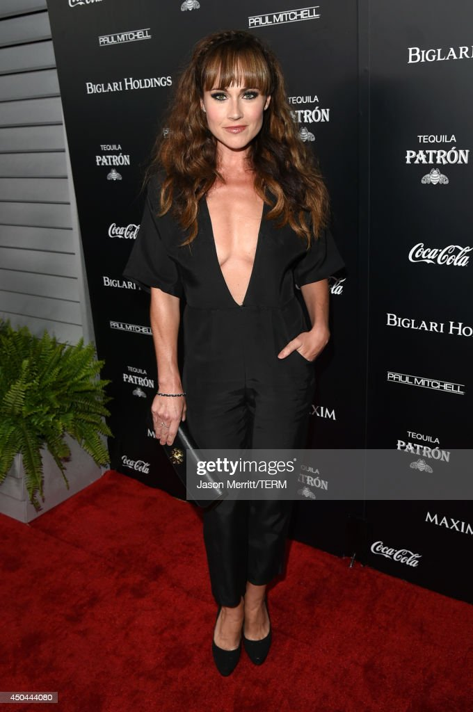Actress <a gi-track='captionPersonalityLinkClicked' href=/galleries/search?phrase=Nikki+DeLoach&family=editorial&specificpeople=762634 ng-click='$event.stopPropagation()'>Nikki DeLoach</a> attends Maxim's Hot 100 Women of 2014 celebration and sneak peek of the future of Maxim at Pacific Design Center on June 10, 2014 in West Hollywood, California.