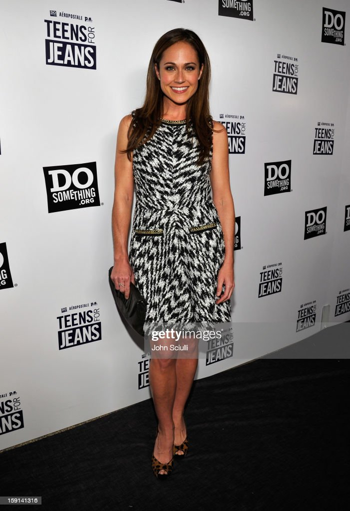Actress Nikki DeLoach attends the DoSomething.org and Aeropostale launch of the 6th annual 'Teens For Jeans' hosted by Chloe Moretz at Palihouse on January 8, 2013 in West Hollywood, California.