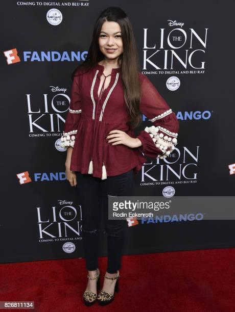 Actress Nikki Hahn attends 'The Lion King' singalong screening at The Greek Theatre on August 5 2017 in Los Angeles California
