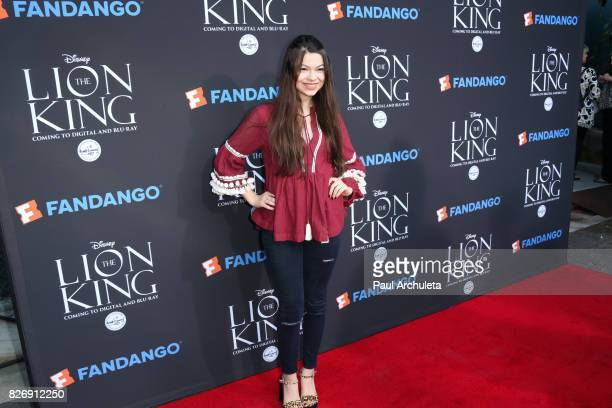 Actress Nikki Hahn attends the 'The Lion King' singalong and screening at The Greek Theatre on August 5 2017 in Los Angeles California