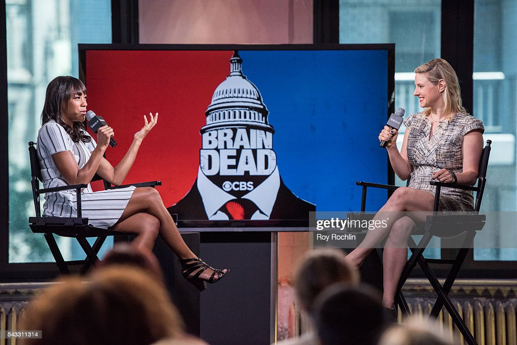 Actress Nikki James discusses 'BrainDead' with AOL Build at AOL Studios In New York on June 27, 2016 in New York City.